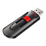 SanDisk Cruzer Glide 32 GB USB Flash Drive - Black, Red - SDCZ60032GA11