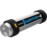 Corsair Flash Survivor 64 GB USB 3.0 Flash Drive - Black, Silver