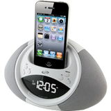 iLive Desktop Clock Radio - Stereo - Apple Dock Interface - Proprietary Interface ICP122W