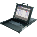 "Minicom by Tripp Lite SmartRack 116 - 16-Port Console Cat5 KVM with 17"" LCD 0SU52091"