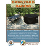 Backyard Basics Eco-Cover Large Rectangle Patio Set Cover