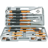Mr. Bar.B.Q 18 Piece Gourmet Stainless Steel Tool Set - 02182X