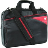 V7 14.1&quot; Edge Ultra Slim Laptop Bag with Red Trim - CTD69N