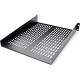 StarTech.com 2U 22in Vented Rack Mount Shelf - Fixed Server Rack Cabinet Shelf - 50lbs / 22kg CABSHELF22V