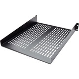 StarTech.com 2U 22in Vented Rack Mount Shelf - Fixed Server Rack Cabin - CABSHELF22V