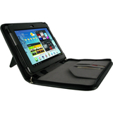 rooCASE Executive Portfolio Leather Folio Case for Samsung Galaxy Tab - RCGALX10TAB2EXEBK