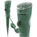 AmerTac Outdoor 3-Outlet Daily Self-Adjusting Photocell Stake Timer