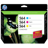 HP 564 Combo-pack Ink Cartridge - Cyan, Magenta, Yellow - B3B33FN140