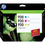 HP 920 Combo-pack Ink Cartridge - Cyan, Magenta, Yellow - B3B30FN140