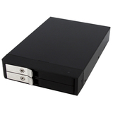 3.5in Trayless SATA Mobile Rack for Dual 2.5in Hard Drives - HSB225SATBK