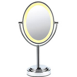 Conair Oval Polished Chrome Double Sided Illuminated Mirror - BE47X
