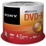 Sony DVD Recordable Media - DVD-R - 16x - 4.70 GB - 50 Pack Spindle 50DMR47SP