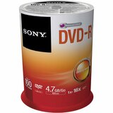 Sony DVD Recordable Media - DVD-R - 8x - 4.70 GB - 100 Pack Spindle - 100DMR47SP