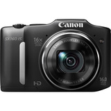 Canon PowerShot SX160 IS 16 Megapixel Compact Camera - Black - 6354B001
