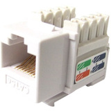 Weltron Cat6 White 110 Keystone Punch Down Jack (44-678C6-WH)