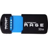 Patriot Memory Supersonic Rage XT 32 GB USB 3.0 Flash Drive - Black, Blue PEF32GSRUSB