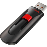 SanDisk Cruzer Glide 128 GB USB 2.0 Flash Drive - Black, Red - SDCZ60128GA11
