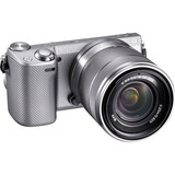 Sony alpha NEX-5R 16.1 Megapixel Mirrorless Camera (Body with Lens Kit) - 18 mm - 55 mm - Silver NEX5RKS