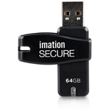 Imation Secure 64 GB USB 2.0 Flash Drive - Black 28913