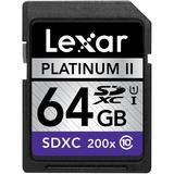 Lexar Platinum II 64 GB Secure Digital Extended Capacity (SDXC) LSD64GBSBNA200
