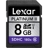 Lexar Media Platinum II 8 GB Secure Digital High Capacity (SDHC) - 1 C - LSD8GBBSBNA200