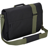 "Targus TBM065CA Carrying Case (Messenger) for 16"" Notebook, Tablet PC, Digital Text Reader - Black, Green TBM065CA"