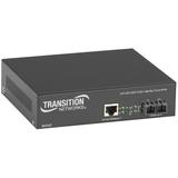 Transition Networks Power-Over-Ethernet (PoE+) PSE Media Converter