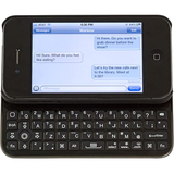 Solid Line Style & Type Keyboard/Cover Case for iPhone - Black