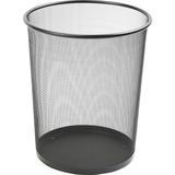Lorell Black Mesh Round Waste Bin 52770
