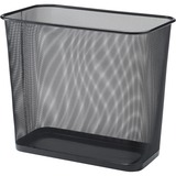 Lorell Black Mesh Rectangular Waste Bin 52771