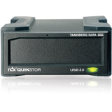 Tandberg Data RDX QuikStor 1.50 TB Yes External Hard Drive Cartridge - Black