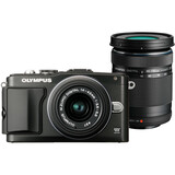 Olympus PEN E-PL5 16.1 Megapixel Mirrorless Camera (Body with Lens Kit) - 14 mm - 42 mm - Black V205041BU000