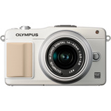 Olympus PEN E-PM2 16.1 Megapixel Mirrorless Camera (Body with Lens Kit) - 14 mm - 42 mm - White V206021WU000
