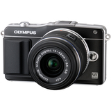 Olympus PEN E-PM2 16.1 Megapixel Mirrorless Camera (Body with Lens Kit) - 14 mm - 42 mm - Black V206021BU000