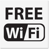 U.S. Stamp & Sign Free Wi-Fi Window Sign 6161