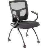 Lorell Mesh Back Fabric Seat Nesting Chairs