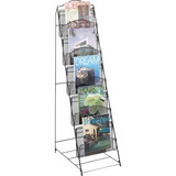 Safco Black Onyx Mesh Literature Floor Rack