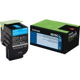 Lexmark 801SC Cyan Standard Yield Return Program Toner Cartridge