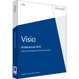 Microsoft Visio 2013 Professional 32/64-bit - License - 1 PC - D8705358