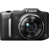 Canon PowerShot SX160 IS 16 Megapixel Compact Camera - Black 6354B005