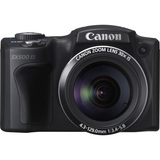 Canon PowerShot SX500 IS 16 Megapixel Compact Camera - Black 6353B005
