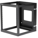 StarTech.com 12U 22in Depth Hinged Open Frame Wall Mount Server Rack - RK1219WALLOH
