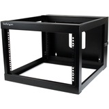 StarTech.com 6U 22in Depth Hinged Open Frame Wall Mount Server Rack RK619WALLOH