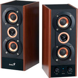 Genius SP-HF800A 2.0 Speaker System - 20 W RMS - Maple Wood - 31730997101