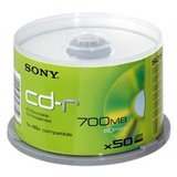 Sony 50CDQ80SP CD Recordable Media - CD-R - 48x - 700 MB - 50 Pack Spindle 50CDQ80SP