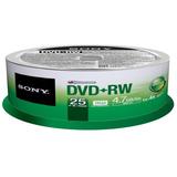 Sony DVD Rewritable Media - DVD+RW - 4x - 4.70 GB - 25 Pack Spindle 25DPW47SP