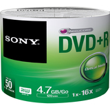 Sony DVD Recordable Media - DVD+R - 16x - 4.70 GB - 50 Pack Spindle - Bulk