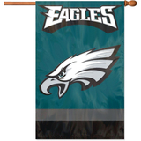 Party Animal Eagles Applique Banner Flag - AFPH