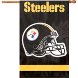 Party Animal Steelers Applique Banner Flag - AFST