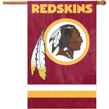 Party Animal Redskins Applique Banner Flag - AFWA